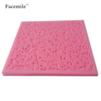 Beautiful Flower Design Instant Fondant Silicone Lace Mold Gift Bakeware Chocolate Mold Baking Tool Gift Decorating Tools - PINK