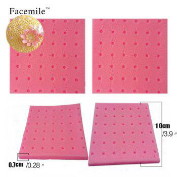 Flower Fondant Kitchen Silicone Lace Mold cake decoration tool 3D Gift Cookie Mold Biscuit Cream Candy Fondant Mould Baking Tool - PINK