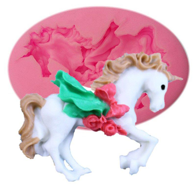 Unicorn Shape Cake Mold Silicone Mini Horse Cake Fondant Decorating Tools Chocolate Gumpaste Mold Barking Tool 10 in 1 fondant cake decorating flower modelling tool set multicolored