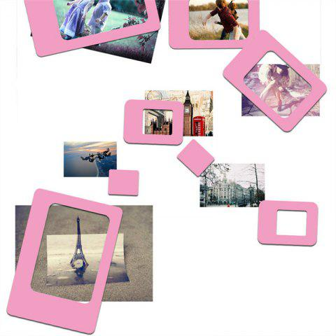 Creative 4PCS Refrigerator Magnetic Picture Frame Paste - PINK