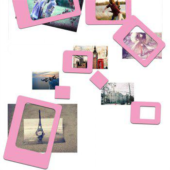 Creative 4PCS Refrigerator Magnetic Picture Frame Paste - PINK PINK