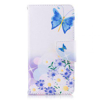 Butterflies in Love Painted PU Phone Case for HUAWEI P9 Lite Mini / Y6 Pro 2017 - COLORMIX