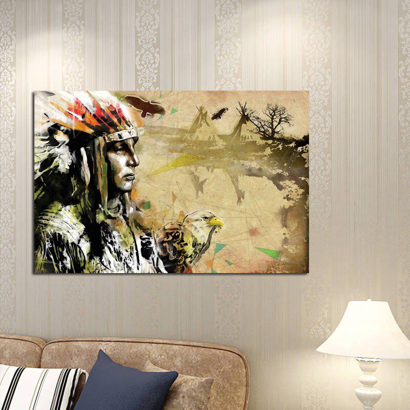 2018 Abstract Frameless Canvas Print of American Indian for Home ...