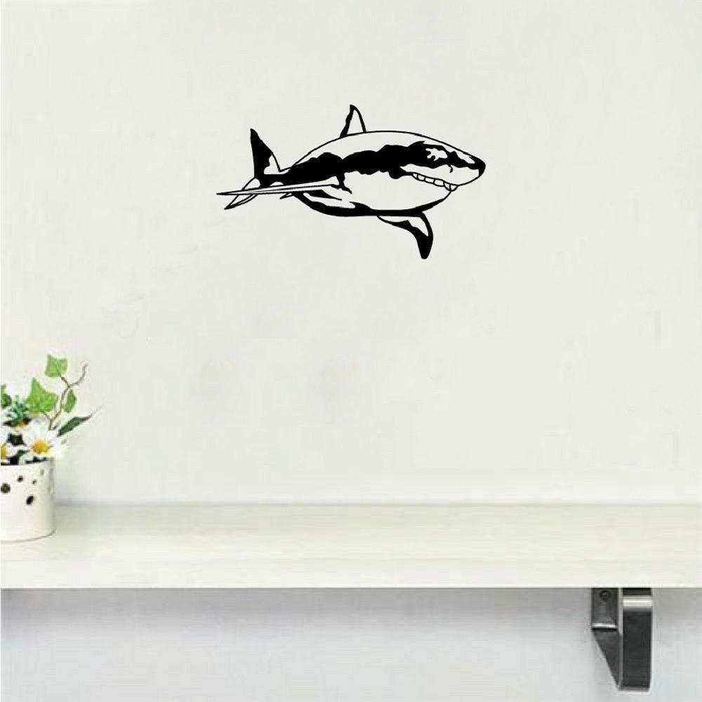 где купить DSU  Creative Shark Vinyl Wall Sticker Cartoon Animal Wall Decal Home Decor по лучшей цене
