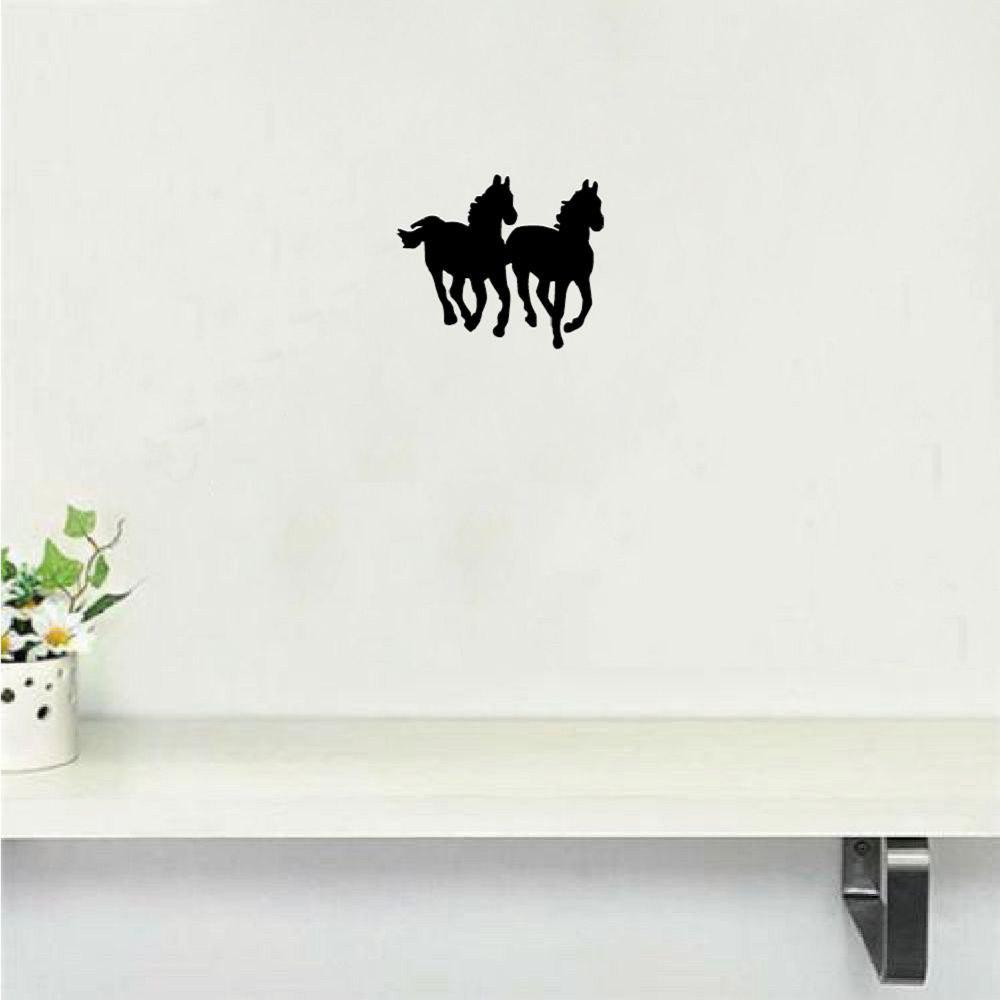 DSU Horse Silhouette Wall Sticker Cartoon Animal Viny Wall Decal Home Decor dsu details about happy girls wall sticker vinyl decal home room decor quote