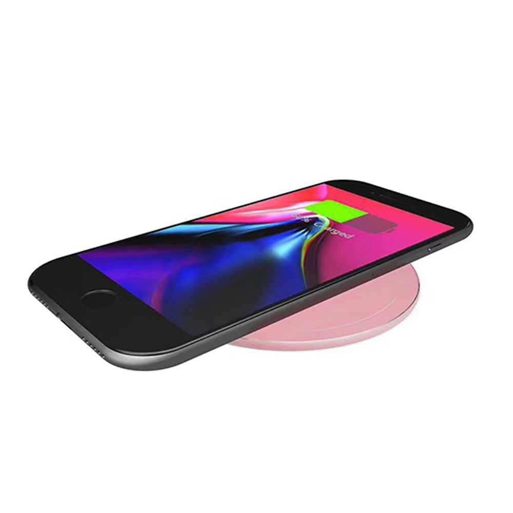 Aluminium Alloy QI Wireless Charger Transmitter 5W YC007 - PINK