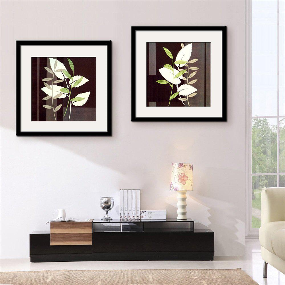 2018 Special Design Frame Paintings Black and white leaf Print 2PCS ...