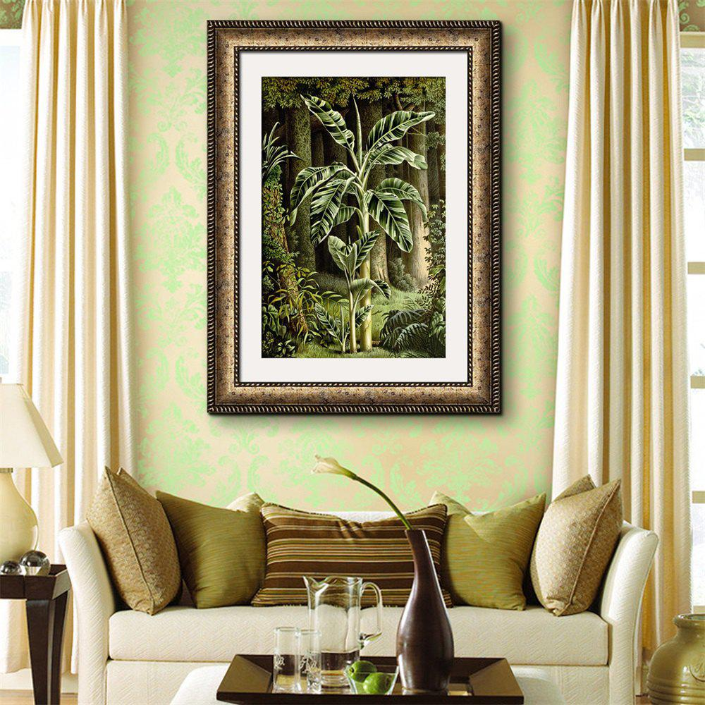 2018 Special Design Frame Paintings Banana Trees Print GREEN X INCH ...