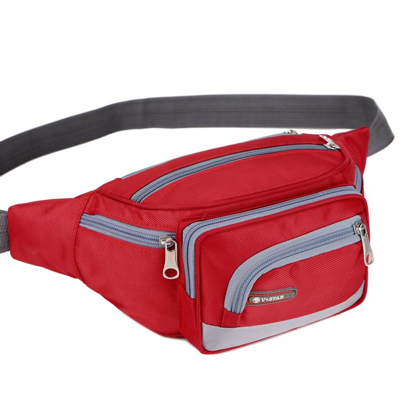 Unisex Bags Polyester Nylon Waist Bag Zipper for Casual Outdoor All Season цена и фото