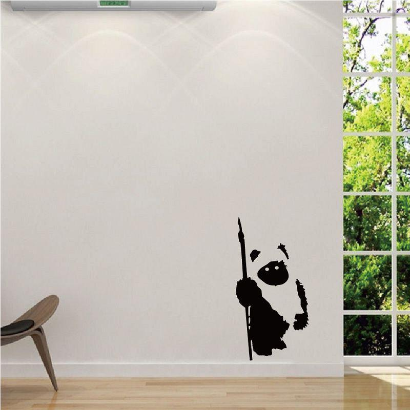 DSU  Vinyl Wall Stciker Creative EWOK Wall Art Decal for Home Decoration dsu details about happy girls wall sticker vinyl decal home room decor quote