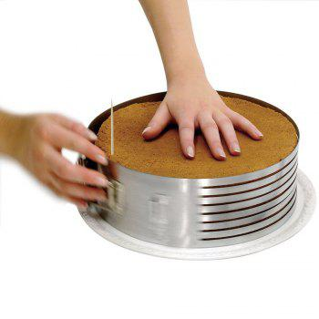Adjustable 6 Inch - 8 Inch Stainless Steel Layer Cake Slicer Mousse Mould Slicing Cakes - SILVER