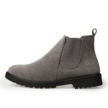 Men Casual Trend for Fashion Warm Winter Slip on Ankle Boots - GRAY GRAY