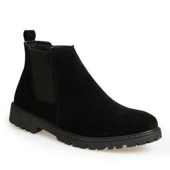 Men Casual Trend for Fashion Warm Winter Slip on Ankle Boots - BLACK BLACK