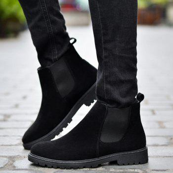 Men Casual Trend for Fashion Warm Winter Slip on Ankle Boots - BLACK 40