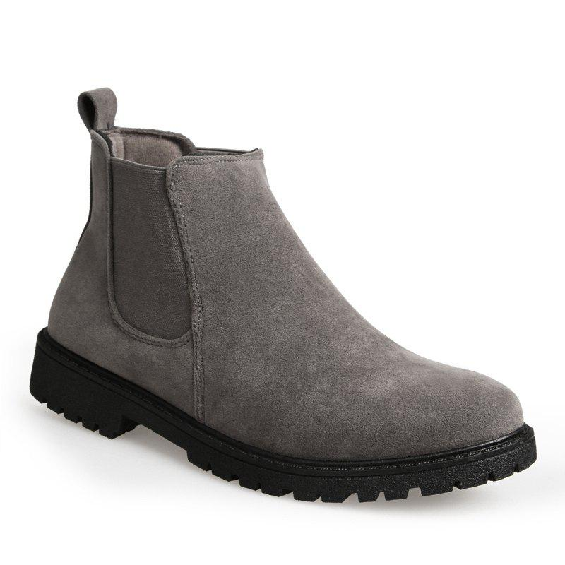 Men Casual Trend for Fashion Warm Winter Slip on Ankle Boots - GRAY 40