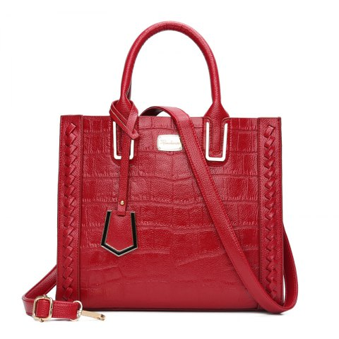 The bill of lading shoulder bag fashion crocodile grain retro handbags - RED VERTICAL