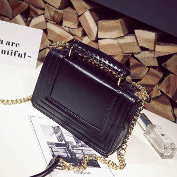 Woven Flowers Fashion Mobile Chain Bag - BLACK