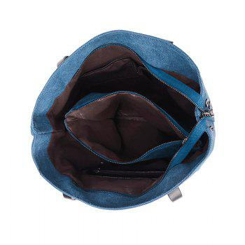 Two-Piece Fashionable Canvas Lash Package Bags - BLUE