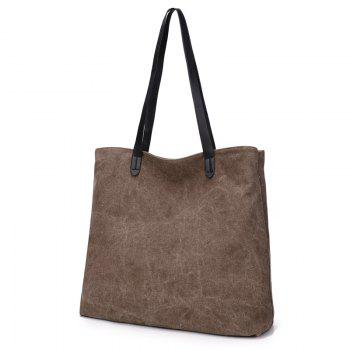 Two-Piece Fashionable Canvas Lash Package Bags - BROWN