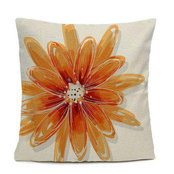 Home Decor Pillow Case Big Flower Pillow Cover - WHITE 16INCHX16INCH