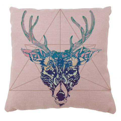 Home Decor Elk Geometric Figure Pillow Case - PINK 16INCHX16INCH
