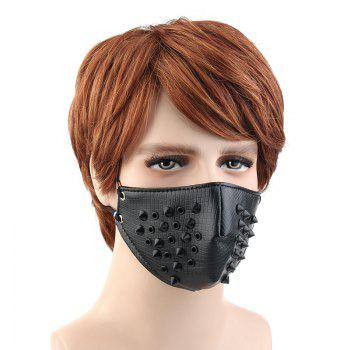 Personality Tide Punk Wind Proof and Dust-Proof Outgoing Locomotive Face Mask - BLACK
