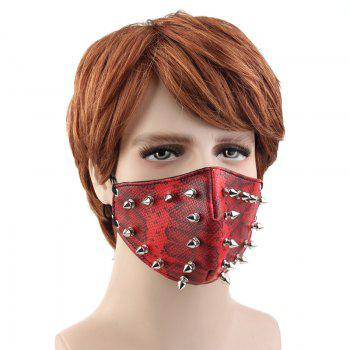 Personality Tide Punk Wind Proof and Dust-Proof Outgoing Locomotive Face Mask - RED