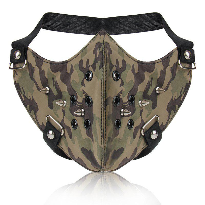 Mode Punk vent camouflage rivet locomotive masque facial - Camouflage