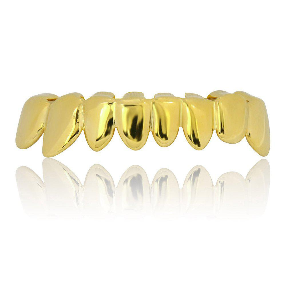 Hip Hop 18K Gold Plated Teeth Grillz Set - GOLDEN