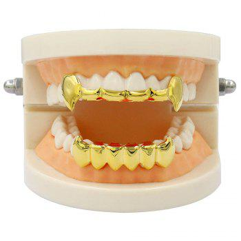 Dents de Vampire Dents Grillz Couleur d'or 18K - Or