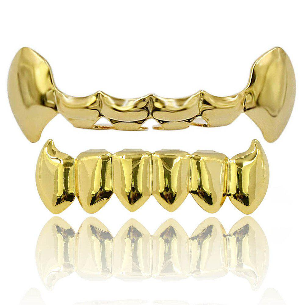 Dents de Vampire Dents Grillz Couleur d'or 18K - d/ ;or