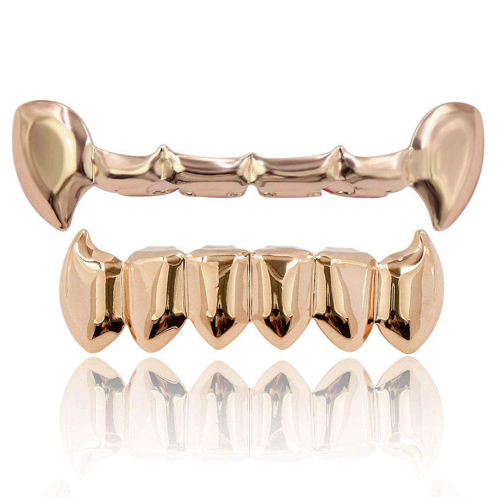 Hip Hop 18K Gold Color Vampire Fangs Teeth Grillz the angel wore fangs