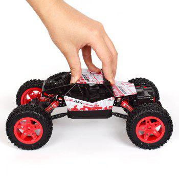 4x4 Double Motors Bigfoot Car Remote Control Model Off-Road Vehicle Toy - RED