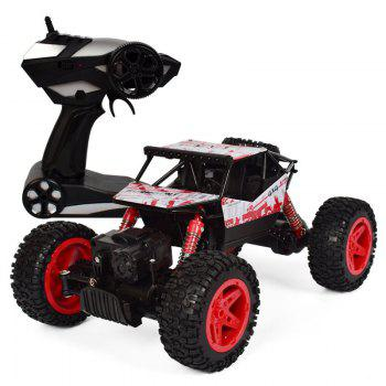 4x4 Double Motors Bigfoot Car Remote Control Model Off-Road Vehicle Toy - RED RED