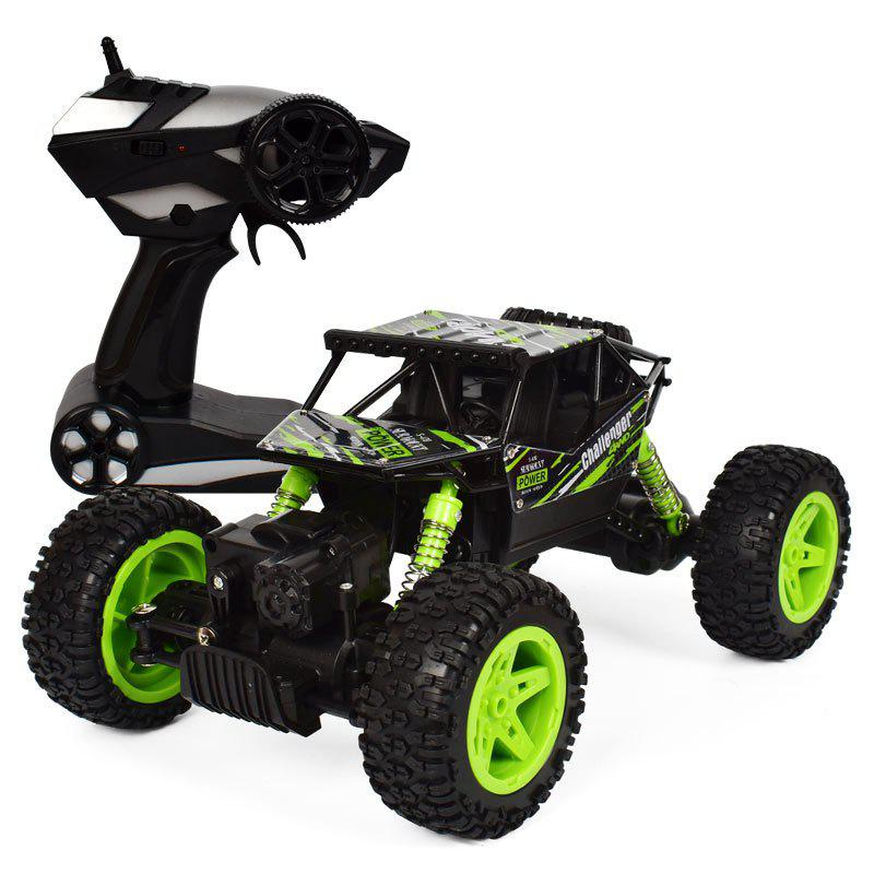4x4 Double Motors Bigfoot Car Remote Control Model Off-Road Vehicle Toy - GREEN