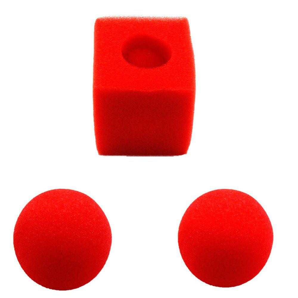 Great Deal Street Magic Trick Comedy Soft Red Sponge Ball perfect silk to ball red automatic ver3 trick silk magic ball magic magic tricks fire props comedy mental magic