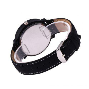 REEBONZ Fashion Leisure Personality KING QUEEN Male and Female Students Quartz Watch - BLACK
