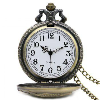 REEBONZ Steampunk Vintage Clamshell Fish Quartz Pocket Watch Necklace Pendant - COPPER COLOR