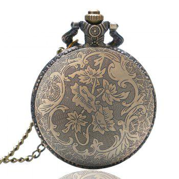 REEBONZ Vintage Paris Quartz Pocket Watch Necklace Pendant - COPPER COLOR