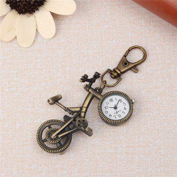 REEBONZ Steampunk Vintage Bicycle Quartz Pocket Watch Necklace Pendant19 -  COPPER COLOR