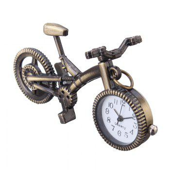 REEBONZ Steampunk Vintage Bicycle Quartz Pocket Watch Necklace Pendant19 - COPPER COLOR COPPER COLOR