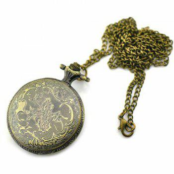 Steampunk Vintage Bronze Rose Quartz Pocket Watch Necklace Pendant -  COPPER COLOR