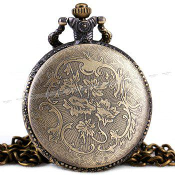REEBONZ Steampunk Vintage Quartz Pocket Watch Necklace -  COPPER COLOR