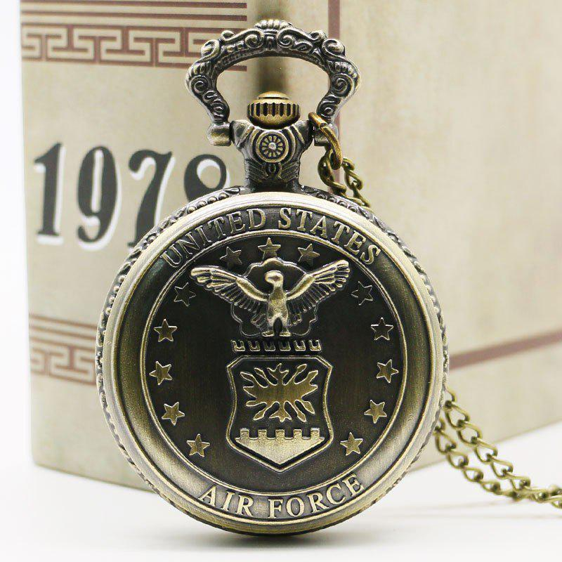 REEBONZ Steampunk Vintage Bronze Quartz Pocket Watch Necklace Pendant - COPPER COLOR