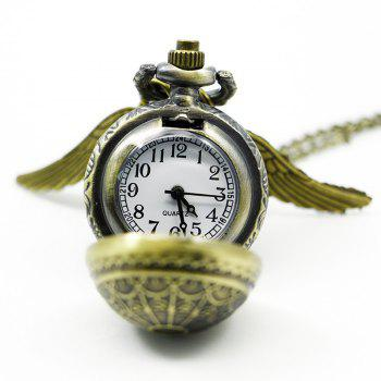 REEBONZ Steampunk Vintage Pumpkin Quartz Pocket Watch Necklace Pendant -  COPPER COLOR
