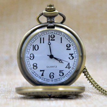 REEBONZ Steampunk Vintage G Quartz Pocket Watch Necklace Pendant - COPPER COLOR
