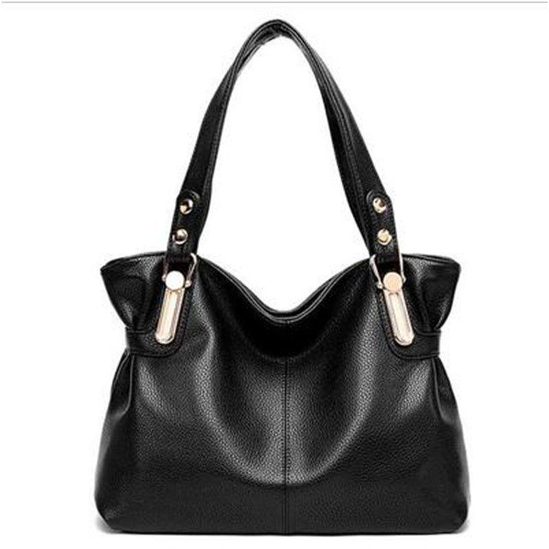 European and American Fashion Handbags Trendy Shoulder Bag Messenger Bag - BLACK