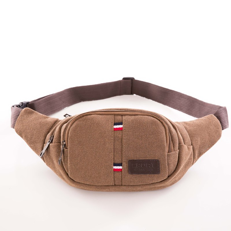 Canvas Waist Bag Multi-function Outdoor Small Bag