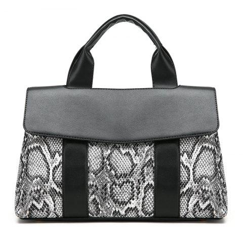 Handbag Female Messenger Bag Simple Serpentine Bag - BLACK