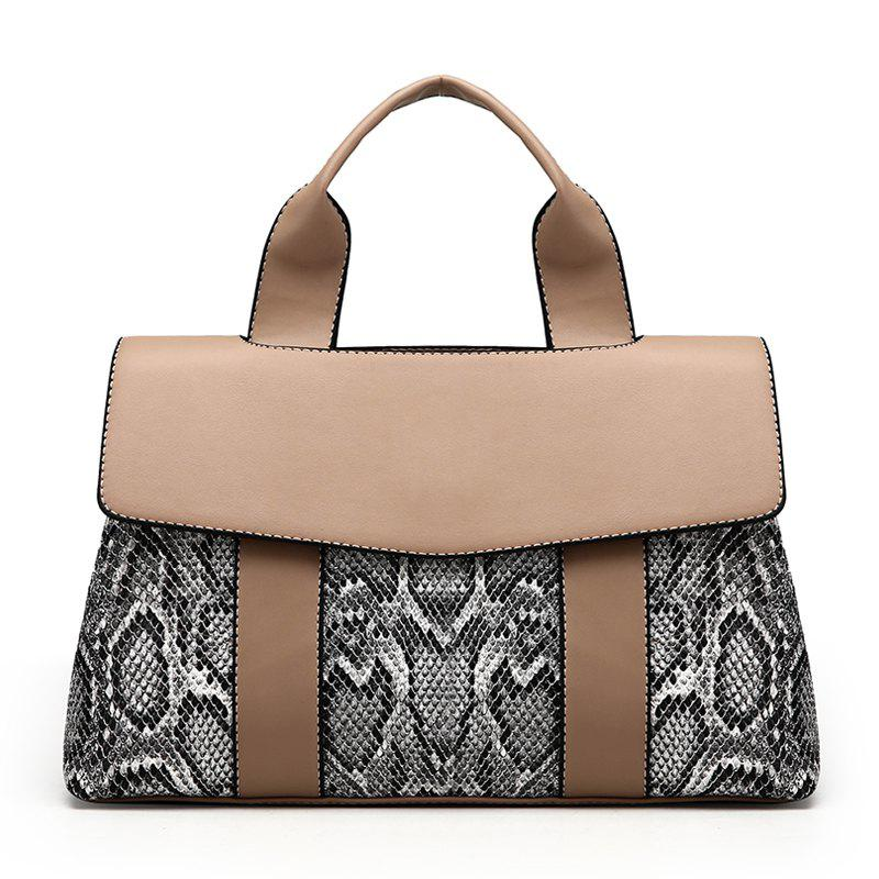 Handbag Female Messenger Bag Simple Serpentine Bag - KHAKI